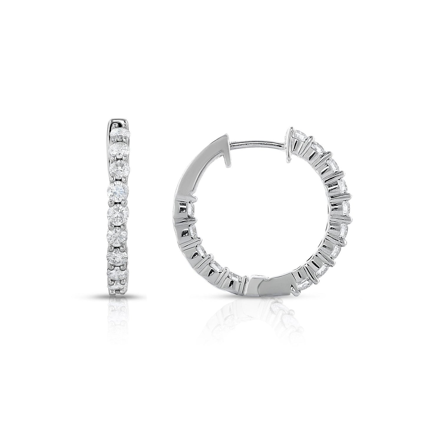 Sabel Collection Diamond Hoop Earrings