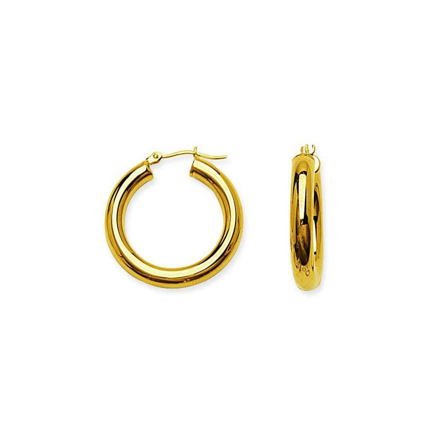 Sabel Everyday Collection 14K Yellow Gold 25mm Polished Hoop Earrings