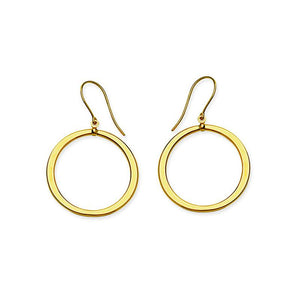 Sabel Everyday Collection 14K Yellow Gold Circle Drop Earrings