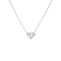 Sabel Everyday Collection 14K White Gold Cutout Diamond Shape Necklace