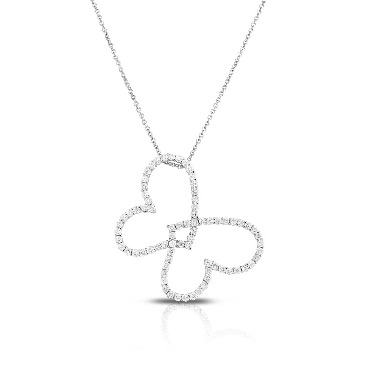 Sabel Collection 14K White Gold Diamond Butterfly Cutout Pendant
