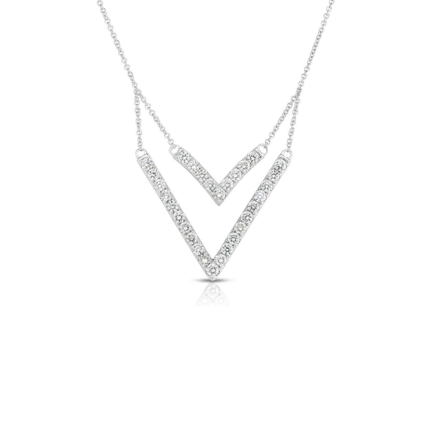 Sabel Collection 14K White Gold Diamond Double