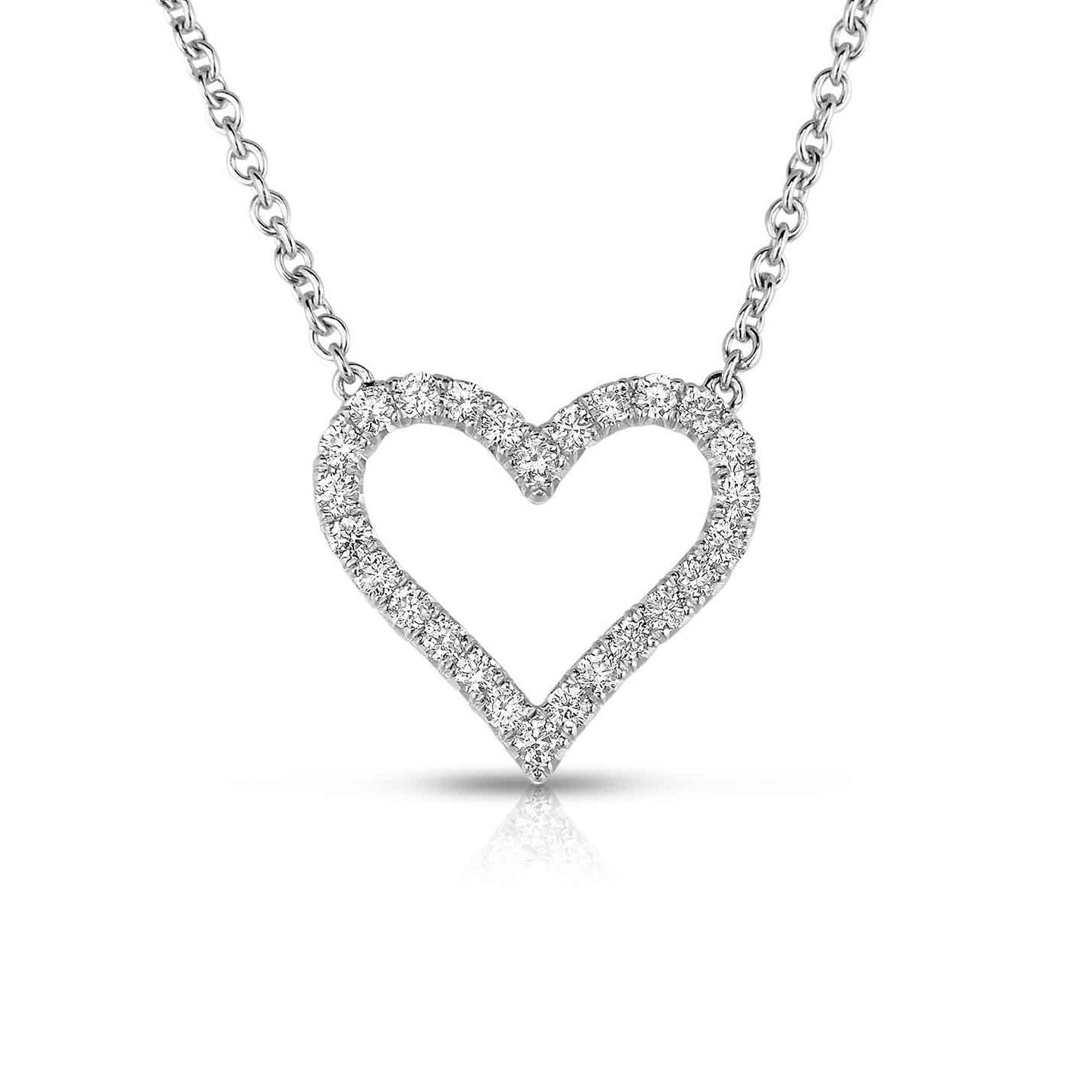 Sabel Collection 14K White Gold Diamond Heart Pendant