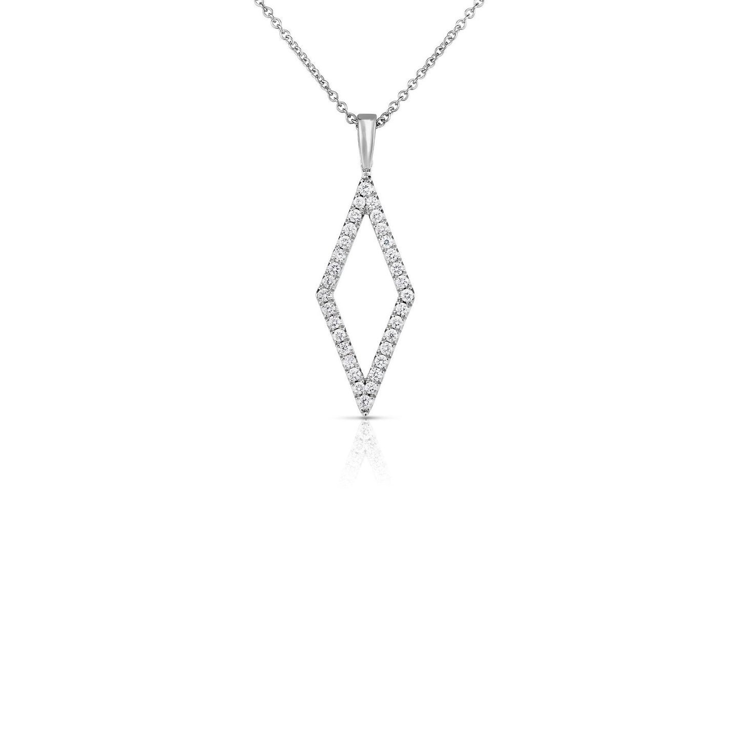 Sabel Collection 14K White Gold Diamond Shape Pendant