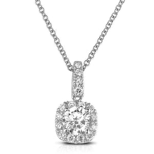 Sabel Collection 14K White Gold Round Diamond Pendant Necklace