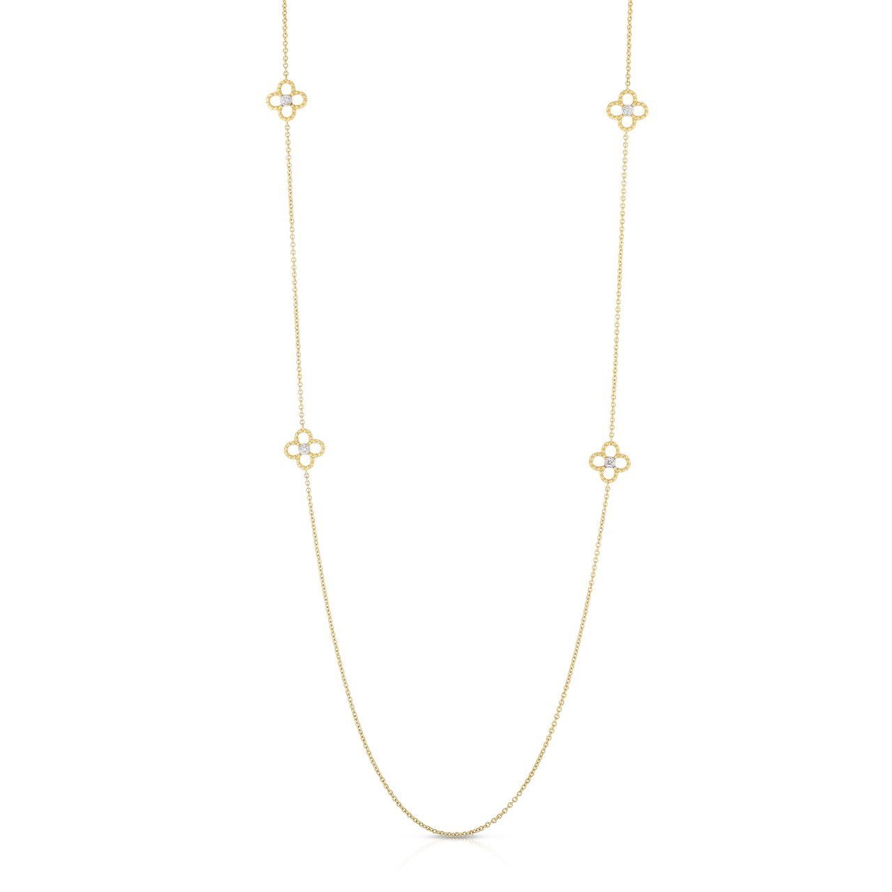 Sabel Collection 14K Yellow Gold 10 Diamond Station Necklace