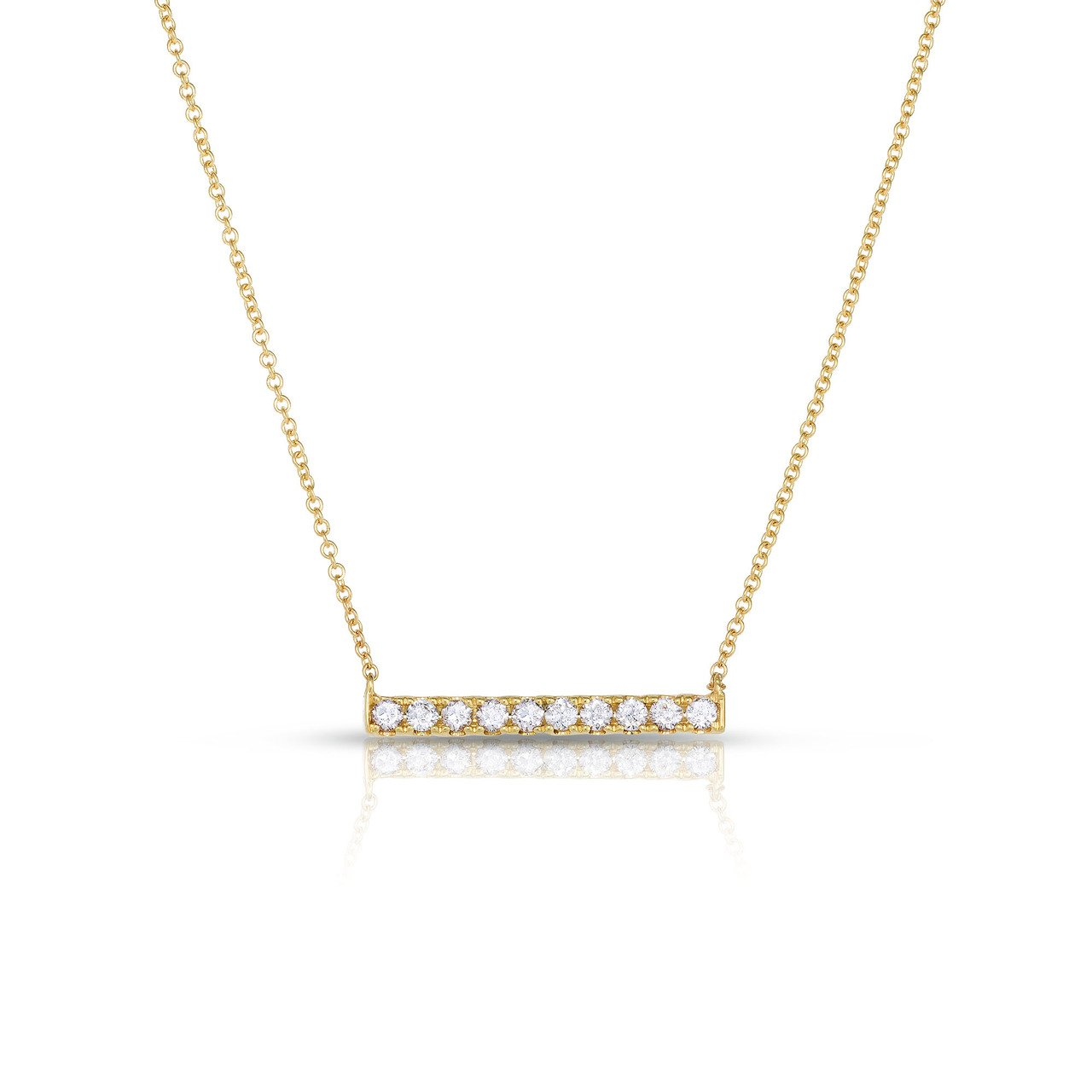 Sabel Collection 14K Yellow Gold Diamond Bar Necklace