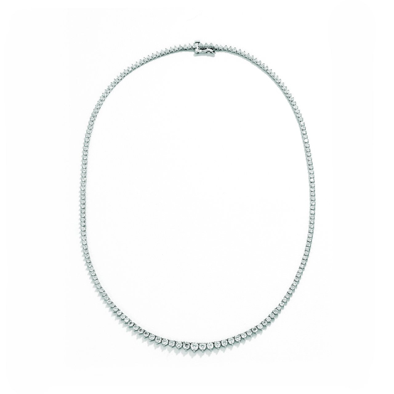 Sabel Collection 18K White Gold Graduated Diamond Necklace