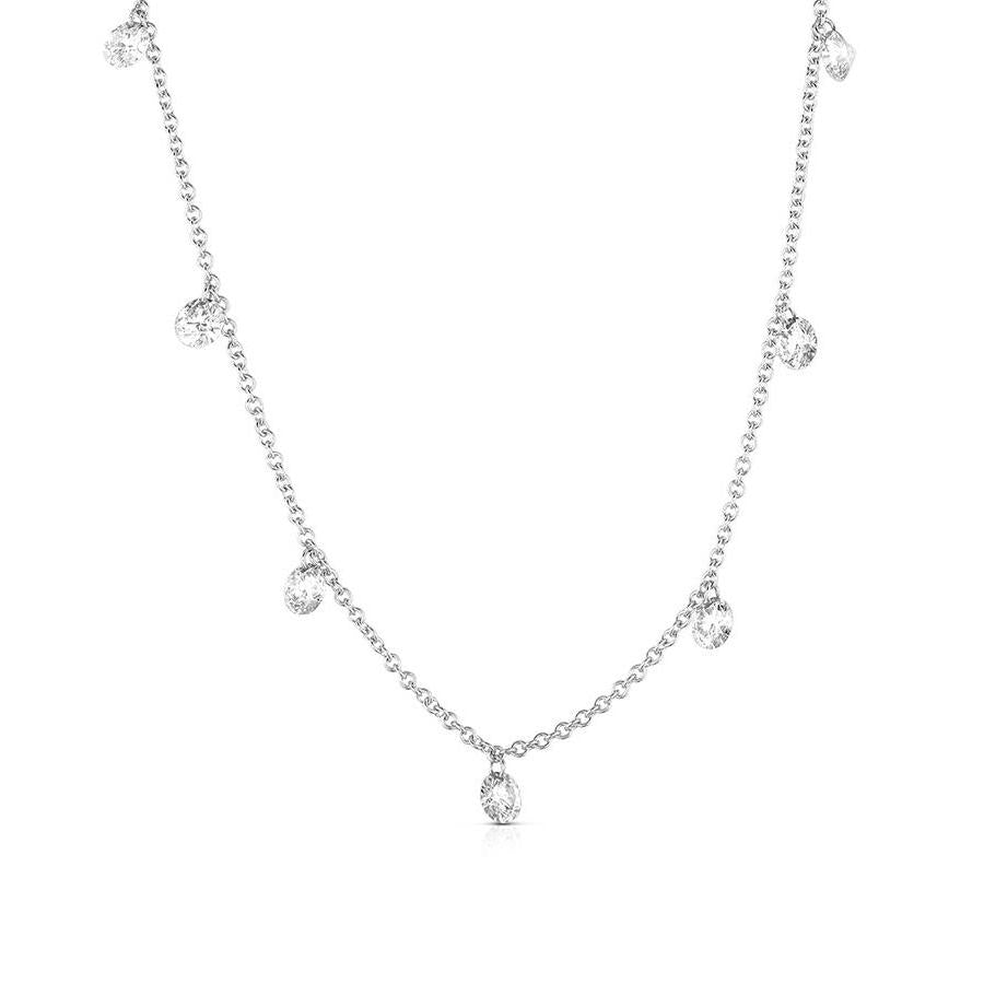 Sabel Collection White Gold Necklace with Diamonds
