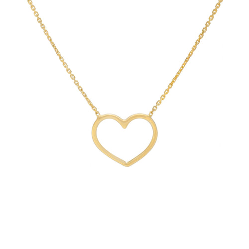 Sabel Everyday Collection 14K Yellow Gold Heart Necklace