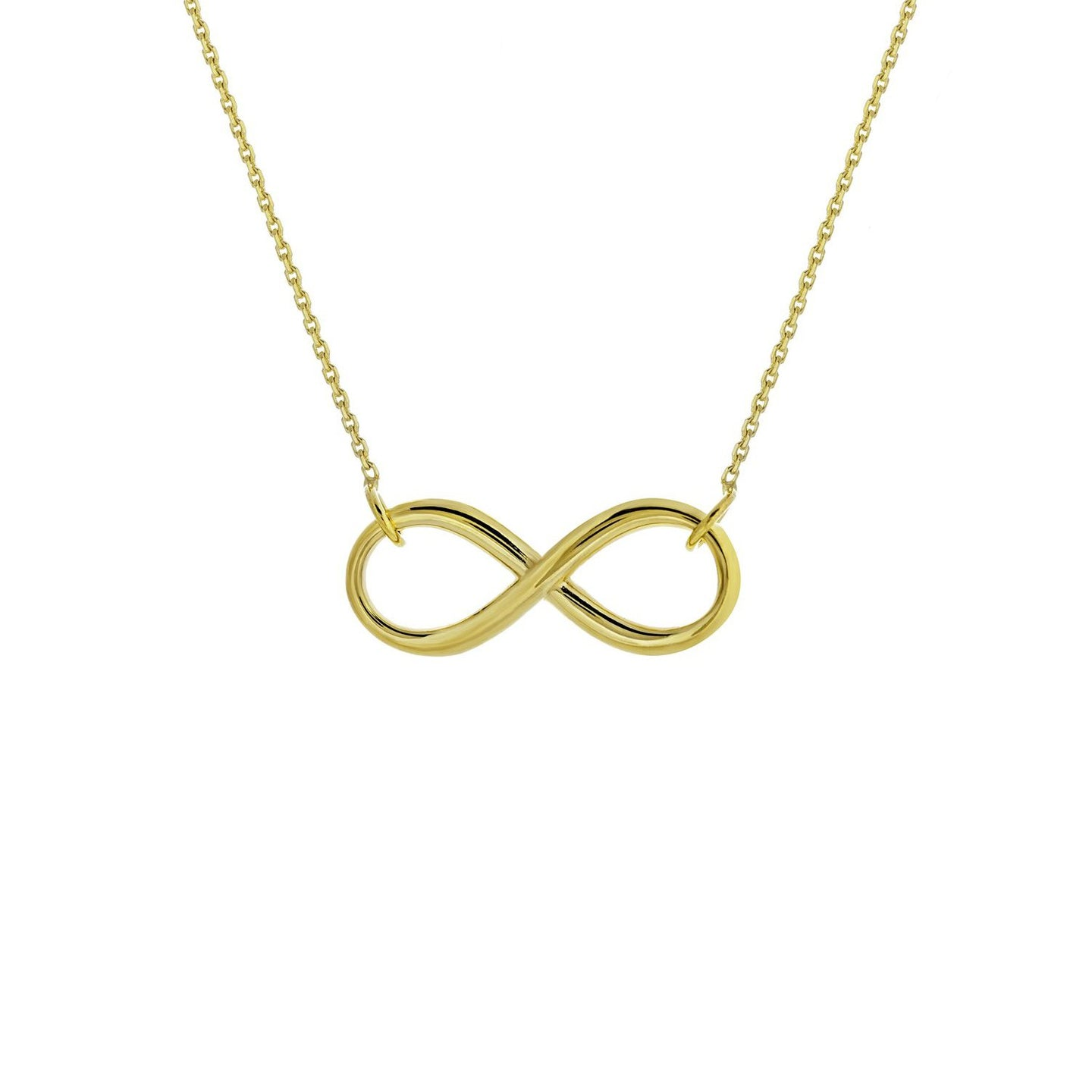 Sabel Everyday Collection 14K Yellow Gold Infinity Necklace