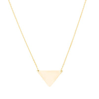 Sabel Everyday Collection 14K Yellow Gold Triangle Pendant Necklace