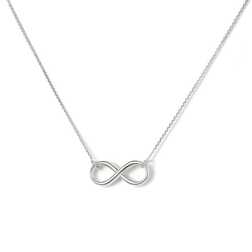 Sabel Everyday Collection Sterling Silver Infinity Necklace