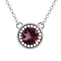 Sabel Collection Round Birthstone Pendant Necklace