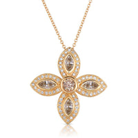 Sabel Collection 14K Rose Gold Marquise and Round Mocha Diamond Pendant
