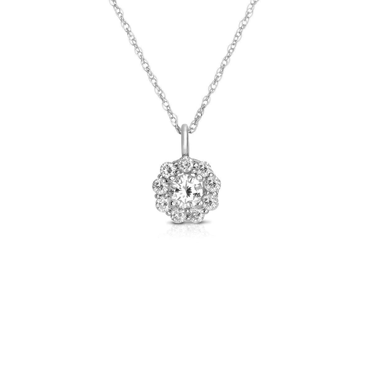 Sabel Collection Circle Diamond Pendant