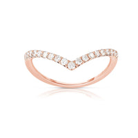 "Sabel Collection 14K Rose Gold Diamond ""V"" Ring"