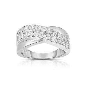 Sabel Collection 14K White Gold Bypass Diamond Ring