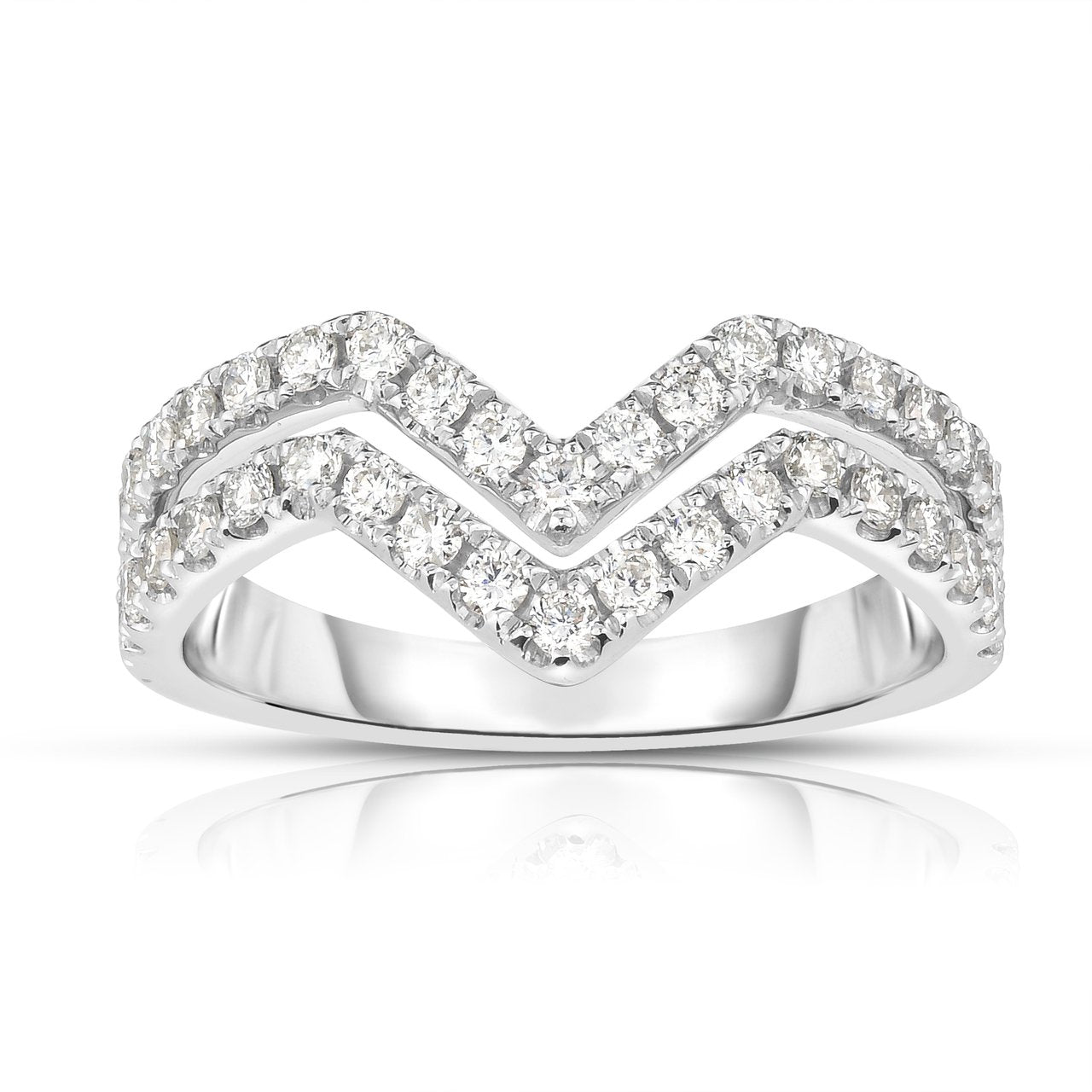 Sabel Collection 14K White Gold Diamond Double Row