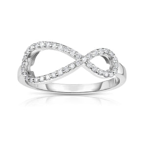 Sabel Collection 14K White Gold Diamond Infinity Ring