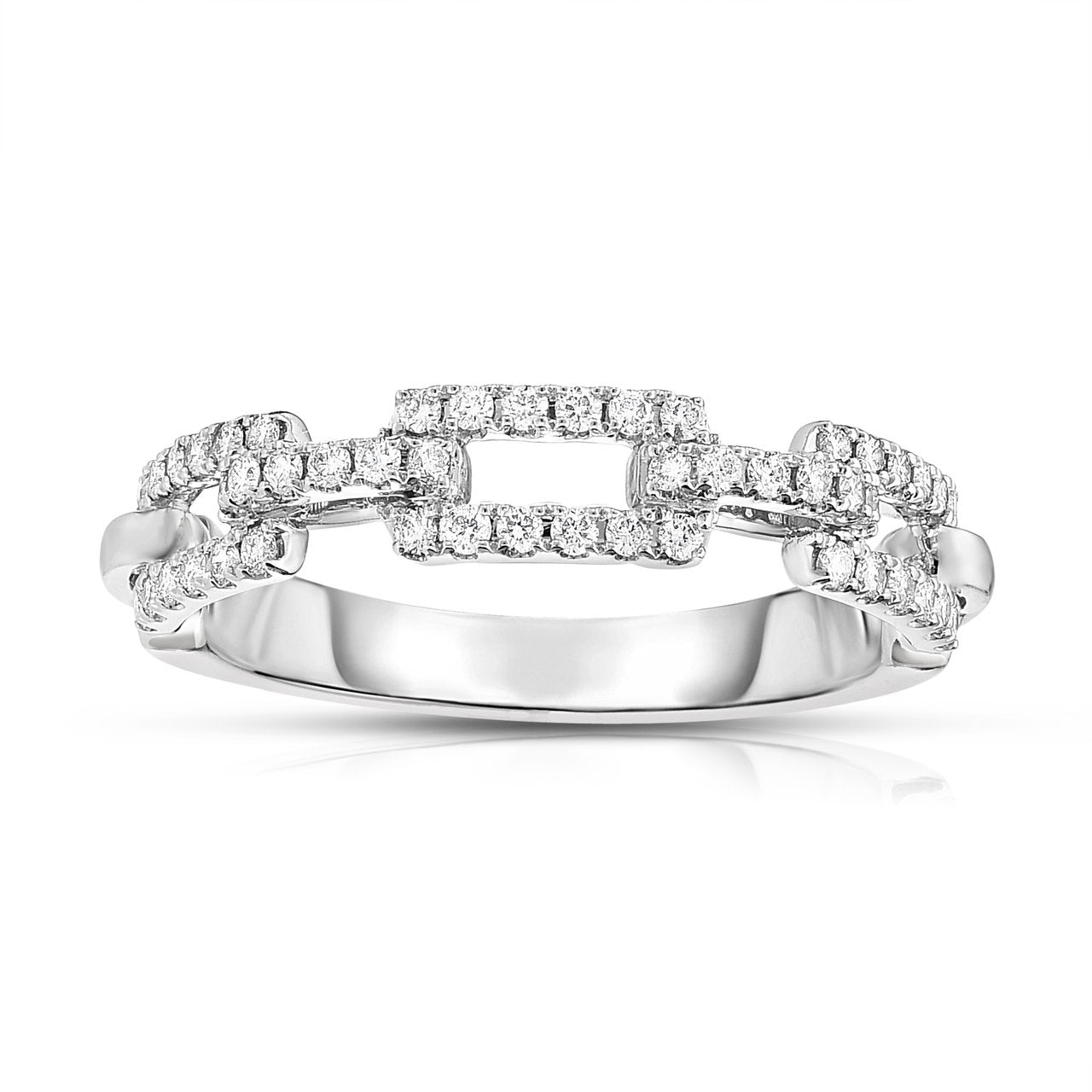 Sabel Collection 14K White Gold Diamond Link Ring