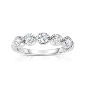 Sabel Collection 14K White Gold 5 Round Diamond Ring