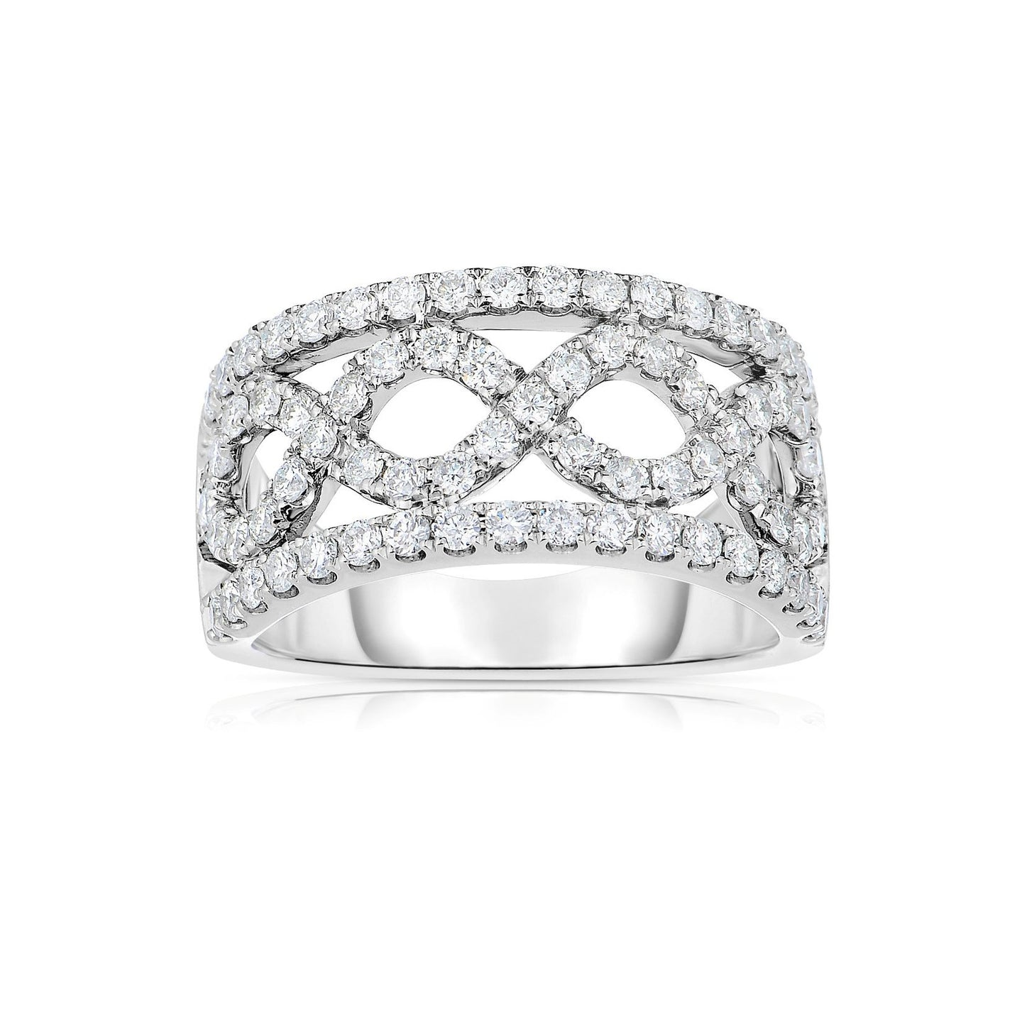 Sabel Collection 14K White Gold Infinity Design Diamond Ring