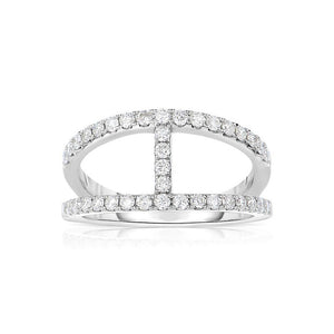 Sabel Collection 14K White Gold Open Diamond Ring