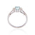 Load image into Gallery viewer, Sabel Collection 14K White Gold Oval Aquamarine and Diamond Cluster Ring