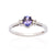Load image into Gallery viewer, Sabel Collection 14K White Gold Oval Tanzanite and Round Diamond Three Stone Ring