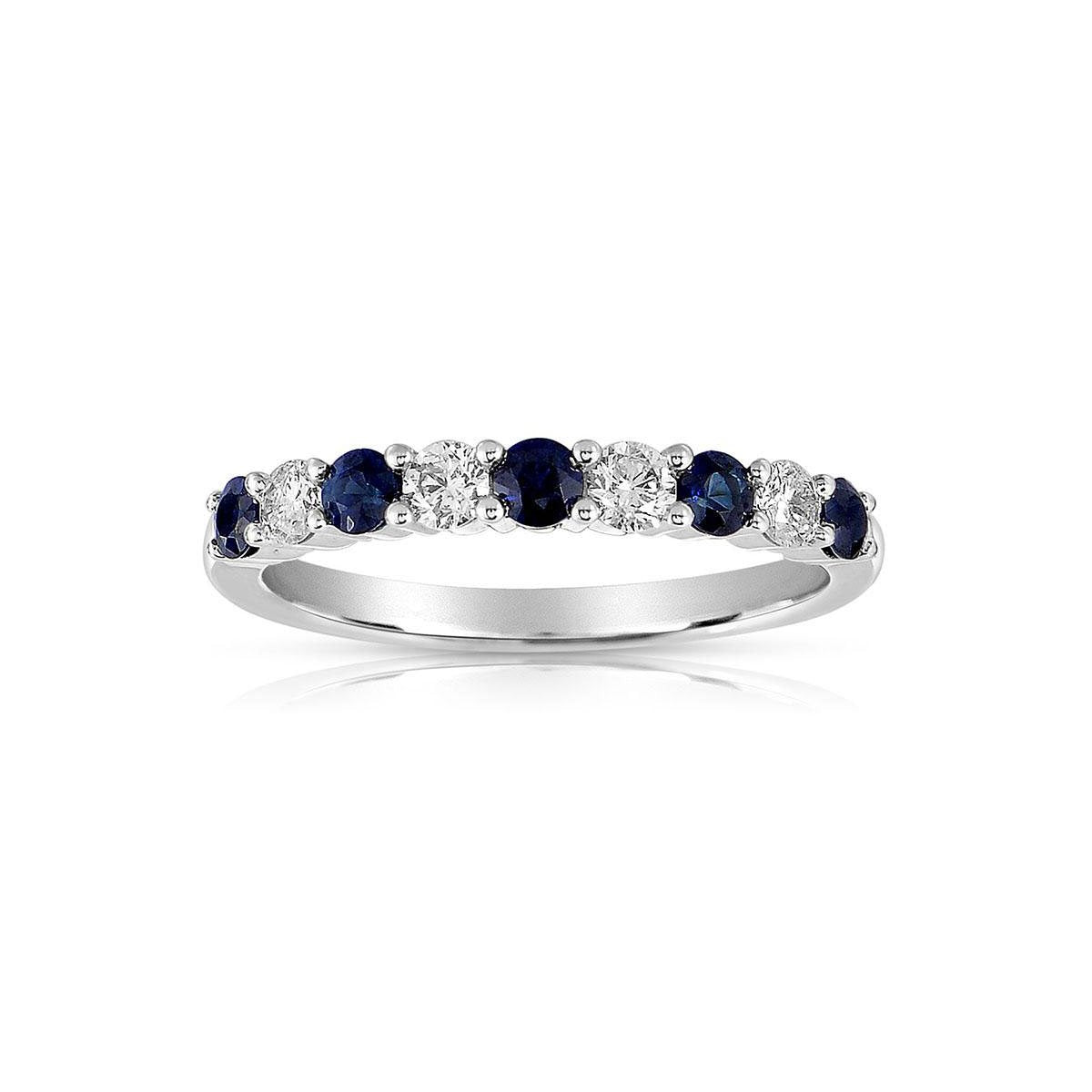 Sabel Collection 14K White Gold Sapphire and Diamond Ring