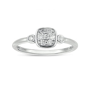 Sabel Collection 14K White Gold Square Diamond Ring