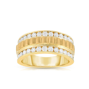Sabel Collection 14K Yellow Gold Band Ring with Diamonds