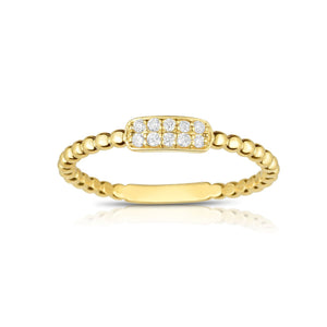 Sabel Collection 14K Yellow Gold Diamond Beaded Ring