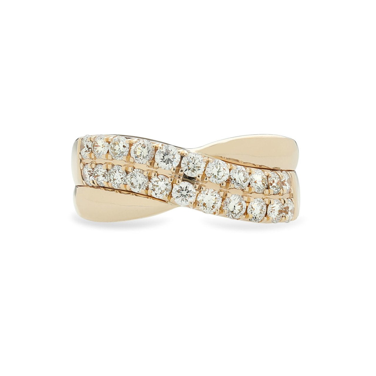 Sabel Collection 14K Yellow Gold Diamond Bypass Ring
