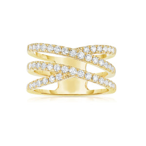 Sabel Collection 14K Yellow Gold Diamond Faux-Crossover Ring