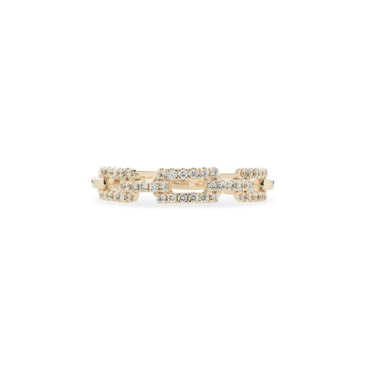 Sabel Collection 14K Yellow Gold Diamond Link Ring