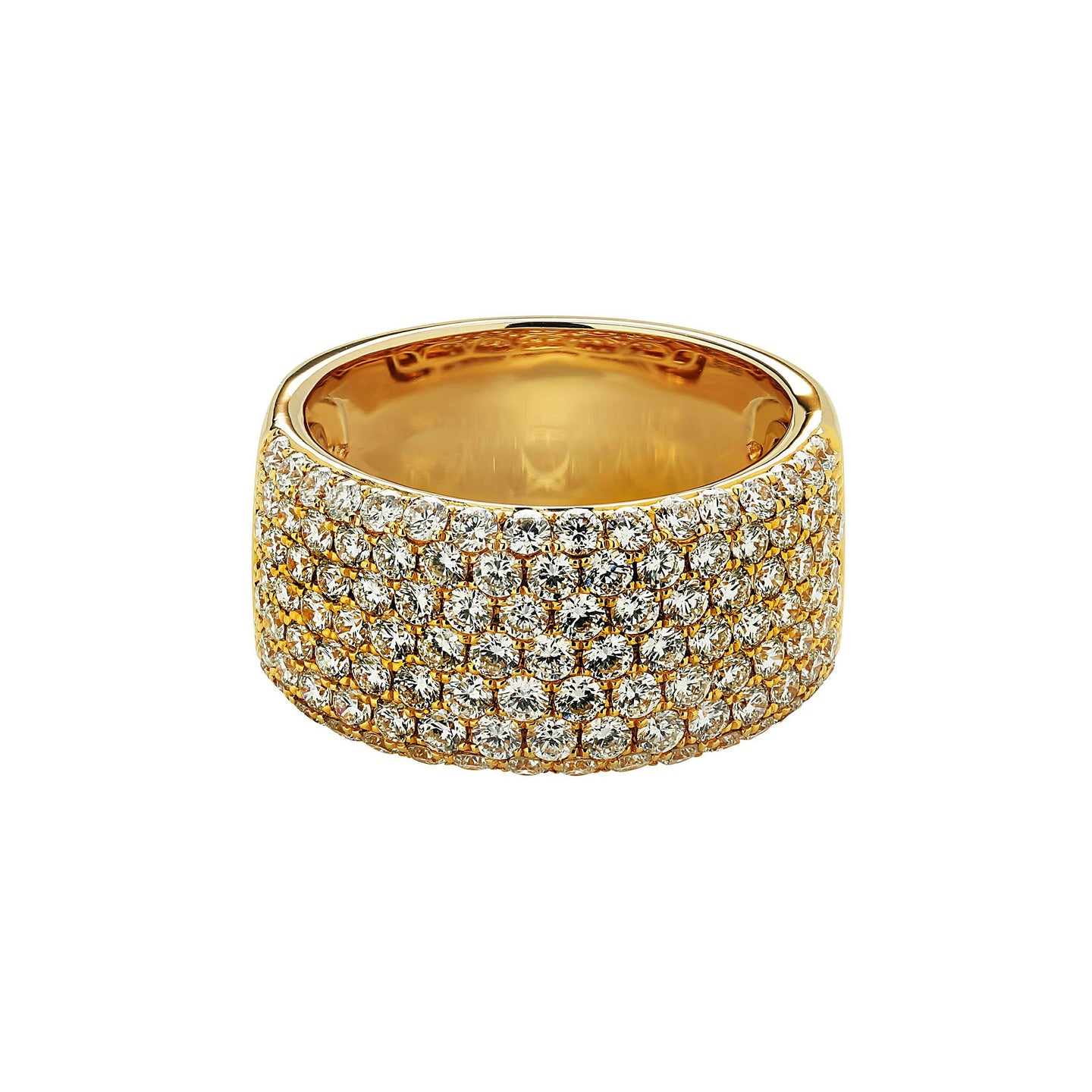 Sabel Collection 14K Yellow Gold Diamond Multi-Row Ring