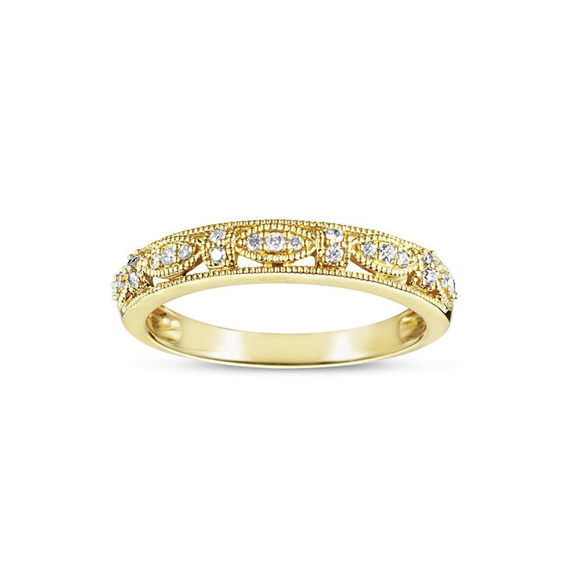 Sabel Collection 14K Yellow Gold Diamond Ring with Marquise Shape Accents