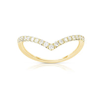 "Sabel Collection 14K Yellow Gold Diamond ""V"" Ring"