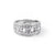 Load image into Gallery viewer, Sabel Collection 18K White Gold Wide Round and Baguette Diamond Dinner Ring