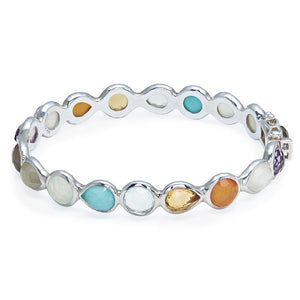 IPPOLITA Rock Candy® Sterling Silver All Around Hinged Bangle
