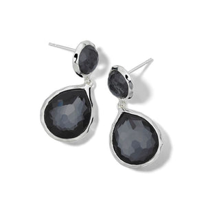 IPPOLITA Polished Rock Candy®Sterling Silver Two-Stone Drop Earrings with Hematite