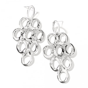 IPPOLITA Classico Sterling Silver Open Oval Cascade Earrings