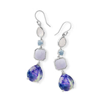 IPPOLITA Rock Candy® Sterling Silver Four Stone Linear Earrings in Barbados