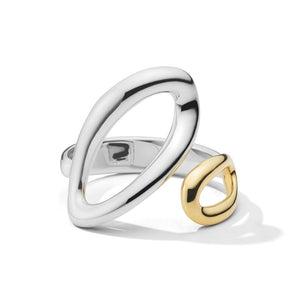 IPPOLITA Chimera Sterling Silver and 18K Yellow Gold Cherish Bypass Ring