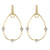 Load image into Gallery viewer, Jude Frances Provence 18K Yellow Gold Pear Shape Frame Earrings with White Diamond Stations