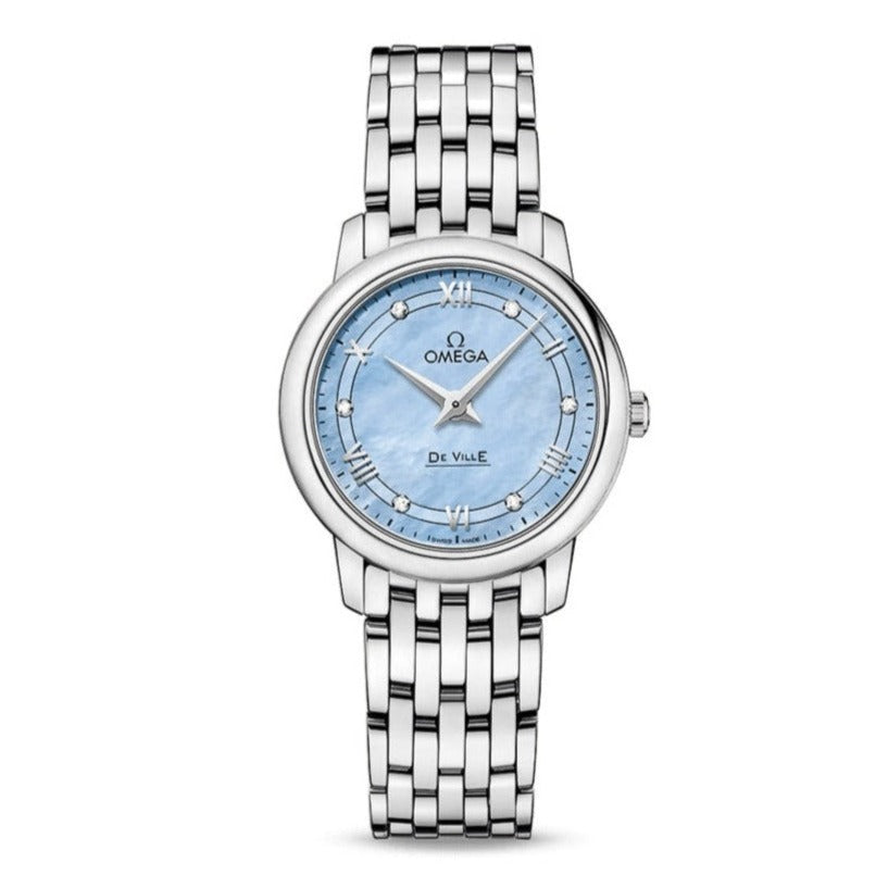 OMEGA De Ville Prestige Quartz 27.4mm with Blue Mother-of-Pearl Dial