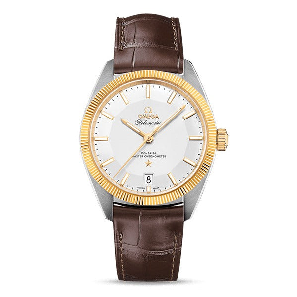 Omega Constellation Globemaster Co-Axial Master Chronometer 39mm with Brown Leather Strap