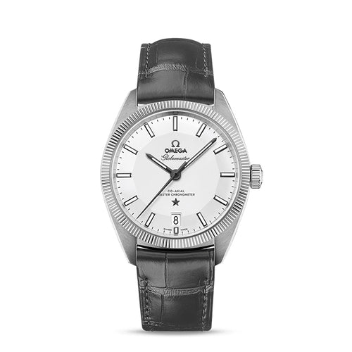 Omega Constellation Globemaster Co-Axial Master Chronometer 39mm with Grey Leather Strap
